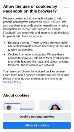 Vorschau der mobilen Webseite www.facebook.com, Spherical