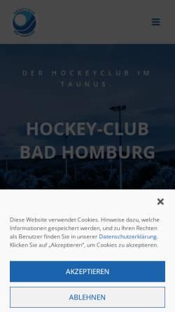 Vorschau der mobilen Webseite www.hc-badhomburg.de, Hockey-Club Bad Homburg e.V.