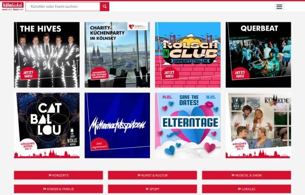 Vorschau von www.koelnticket.de, KölnTicket