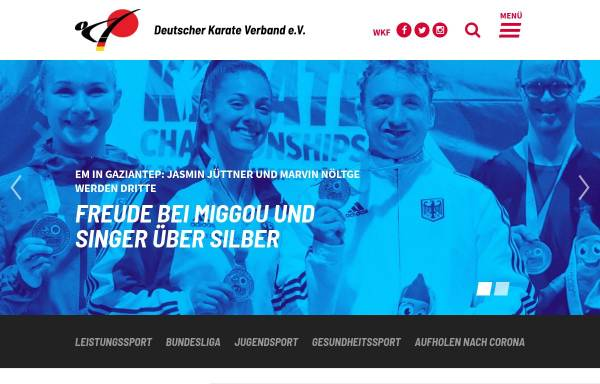 Vorschau von www.karate.de, Deutscher Karate Verband e.V.