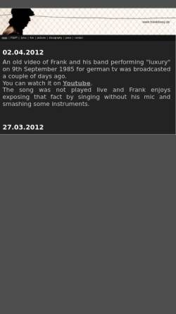 Vorschau der mobilen Webseite www.franktovey.de, Tovey, Frank