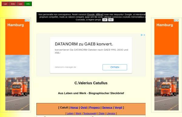 Vorschau von www.gottwein.de, Catull: Biographisch-literarischer Steckbrief