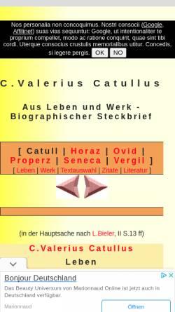 Vorschau der mobilen Webseite www.gottwein.de, Catull: Biographisch-literarischer Steckbrief