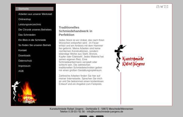Vorschau von www.kunstschmiede-juergens.de, Kunstschmiede, Heinrich Jürgens