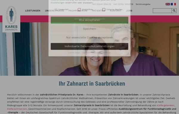 Vorschau von www.dr-kares.de, Kares, Horst und Dirk Leiner Dres. med. dent., privatzahnärztliche Praxis