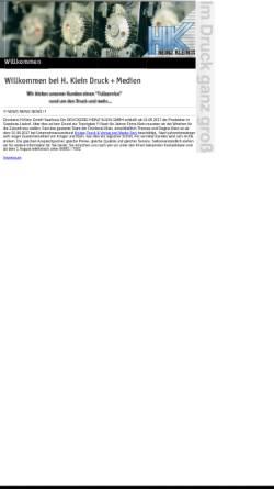 Vorschau der mobilen Webseite www.kleindrucksls.de, HK Heinz Klein GmbH