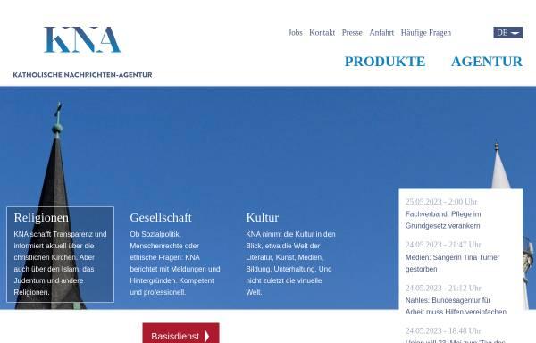 Vorschau von www.kna.de, Katholische Nachrichten-Agentur (KNA)