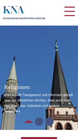 Vorschau der mobilen Webseite www.kna.de, Katholische Nachrichten-Agentur (KNA)