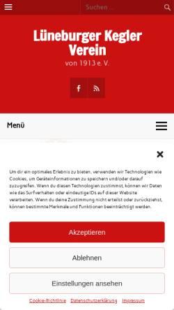 Vorschau der mobilen Webseite lkvkegeln.de, Lüneburger Kegler Verein von 1913 e.V.