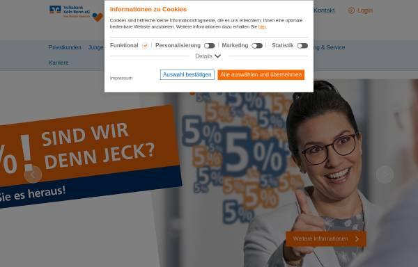 Vorschau von www.vobaworld.de, Volksbank Bonn Rhein-Sieg eG
