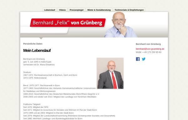 Vorschau von www.von-gruenberg.de, Grünberg, Bernhard von (MdL)