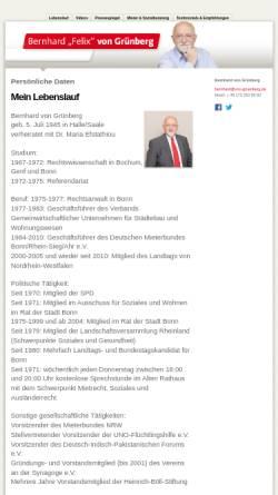 Vorschau der mobilen Webseite www.von-gruenberg.de, Grünberg, Bernhard von (MdL)