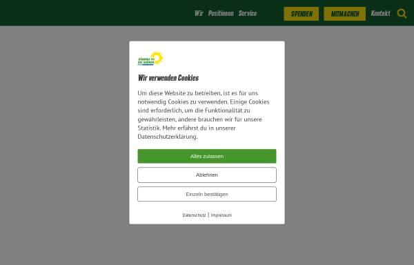 Vorschau von www.gruene-sachsen.de, Bündnis 90/Die Grünen Sachsen