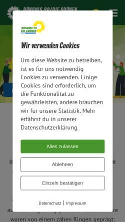 Vorschau der mobilen Webseite www.gruene-sachsen.de, Bündnis 90/Die Grünen Sachsen