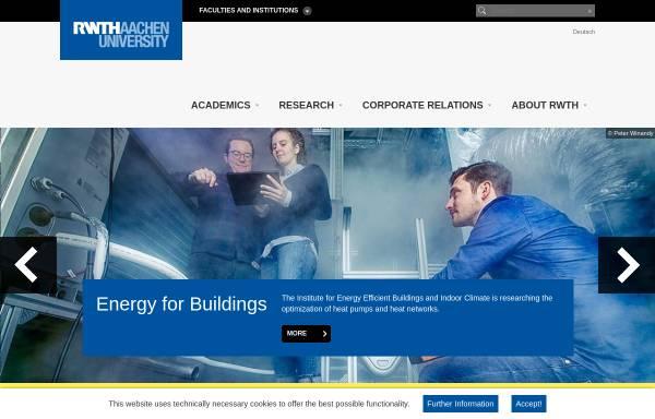 Vorschau von www.rwth-aachen.de, Rheinisch-Westfälische Technische Hochschule Aachen (RWTH)