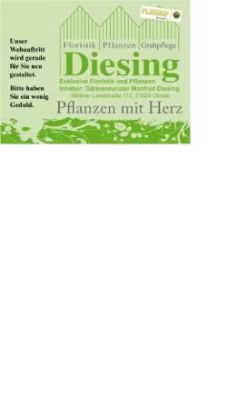 Vorschau der mobilen Webseite www.gaertnerei-diesing.de, Gärtnerei Diesing