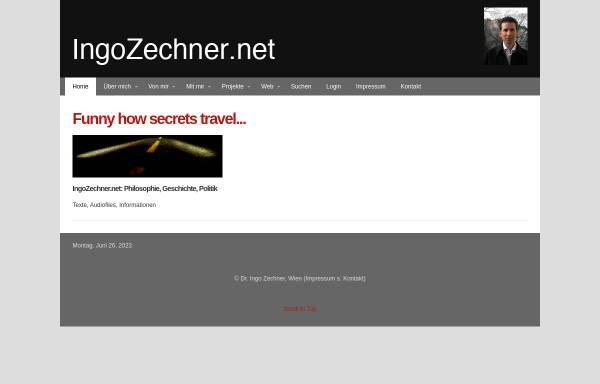 Vorschau von www.ingozechner.net, Ingo Zechner