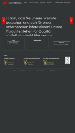 Vorschau der mobilen Webseite www.eulzer.de, Glückwunschkartenverlag Kurt Eulzer Druck