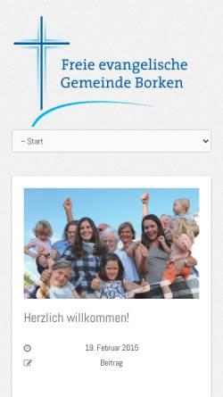 Vorschau der mobilen Webseite borken.feg.de, FeG Borken