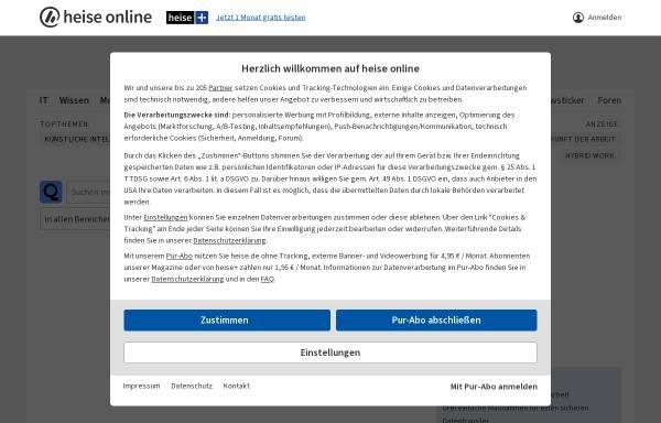 Vorschau von www.heise.de, Heise News-Ticker: Adobe will sich mit KIllustrator-Autor einigen