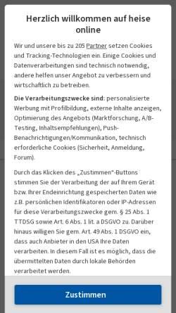 Vorschau der mobilen Webseite www.heise.de, Heise News-Ticker: Adobe will sich mit KIllustrator-Autor einigen