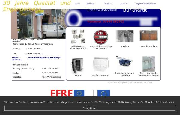 Vorschau von www.sicherheitstechnik-burkhardt.de, Sicherheitstechnik Lothar Burkhardt