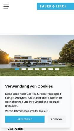 Vorschau der mobilen Webseite www.bauer-kirch.de, Bauer + Kirch GmbH