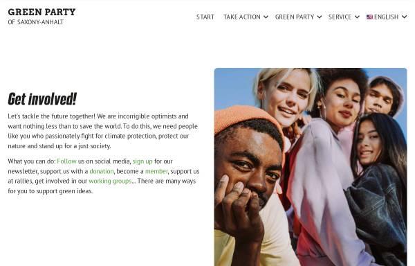 Vorschau von www.gruene-sachsen-anhalt.de, Bündnis 90/Die Grünen Sachsen-Anhalt