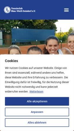 Vorschau der mobilen Webseite www.tennis-bonn.de, TC Blau Weiß Duisdorf e.V.