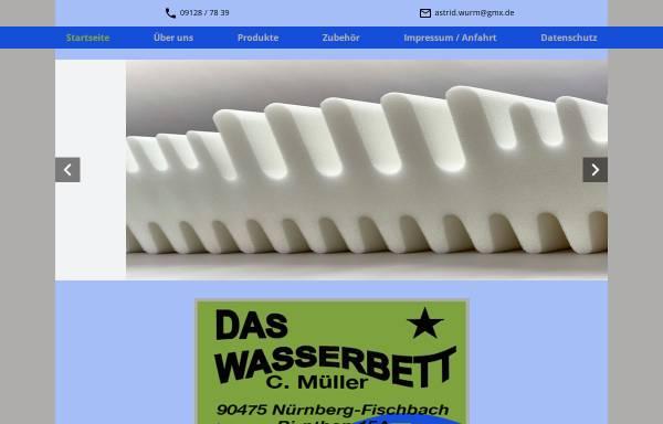 Vorschau von www.daswasserbett-mueller.de, Das Wasserbett C. Müller