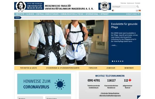 Vorschau von www.med.uni-magdeburg.de, Medizinische Fakultät der Otto-von-Guericke-Universität Magdeburg
