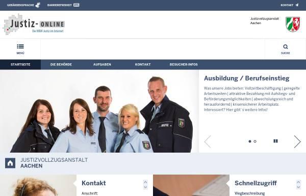 Vorschau von www.jva-aachen.nrw.de, Justizvollzugsanstalt Aachen