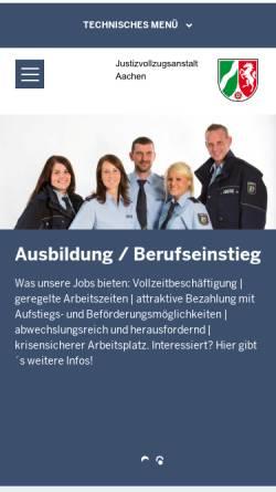 Vorschau der mobilen Webseite www.jva-aachen.nrw.de, Justizvollzugsanstalt Aachen