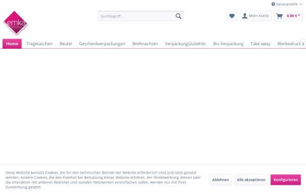 Vorschau von www.emka-tragetaschen.de, Emka Papier- und Folienverarbeitungs GmbH