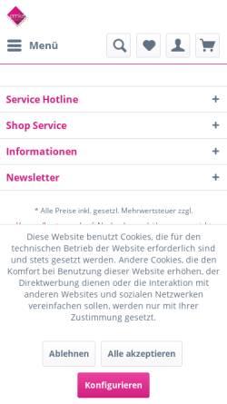 Vorschau der mobilen Webseite www.emka-tragetaschen.de, Emka Papier- und Folienverarbeitungs GmbH