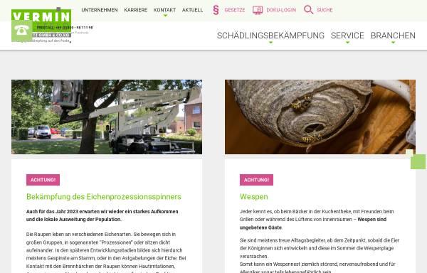 Vorschau von vermin.de, Vermin Bielefeld Kopietz GmbH
