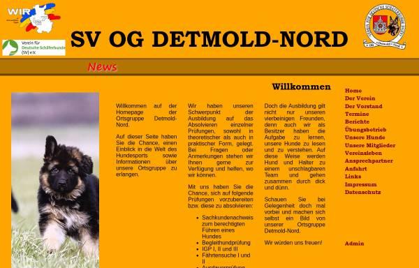 Vorschau von www.og-detmold-nord.de, Verein für deutsche Schäferhunde, Ortsgruppe Detmold-Nord e.V.