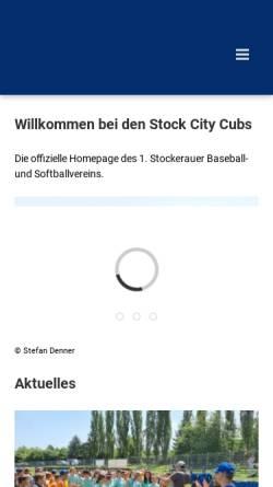 Vorschau der mobilen Webseite www.cubs.at, Stockerau Stock City Cubs