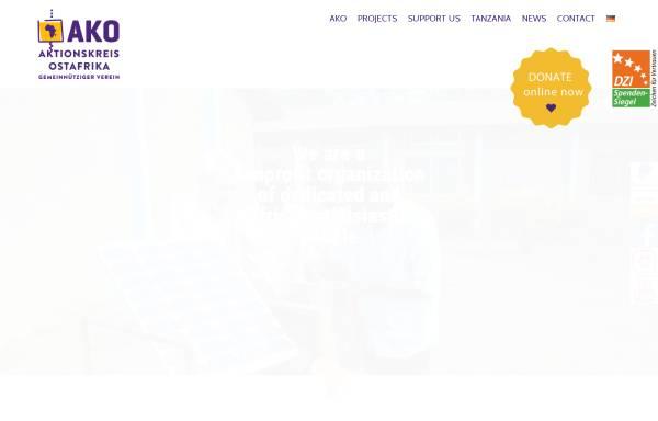 Vorschau von ako-afrikahilfe.de, Aktionskreis Ostafrika