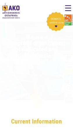 Vorschau der mobilen Webseite ako-afrikahilfe.de, Aktionskreis Ostafrika