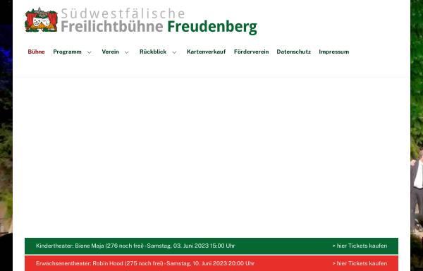 Vorschau von www.freilichtbuehne-freudenberg.de, Südwestfälische Freilichtbühne Freudenberg e.V.