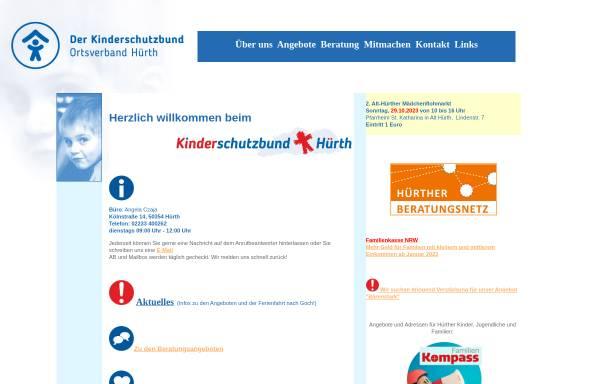 Vorschau von www.kinderschutzbund-huerth.de, Kinderschutzbund-Hürth