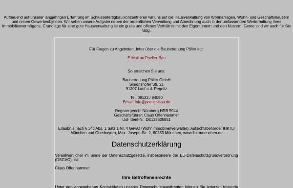 Vorschau von www.poeller-bau.de, Poeller-Bau.de - Baubetreuung Pöller in Lauf