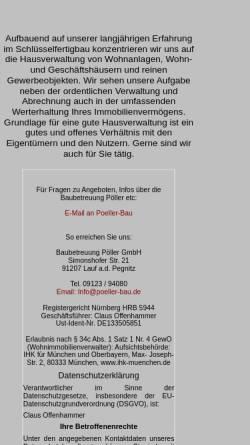 Vorschau der mobilen Webseite www.poeller-bau.de, Poeller-Bau.de - Baubetreuung Pöller in Lauf