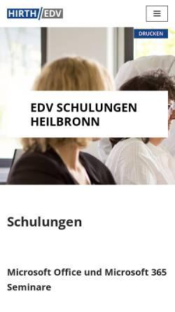 Vorschau der mobilen Webseite www.edv-schulungscenter.de, EDV-Schulung Michael Hirth