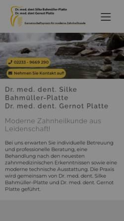 Vorschau der mobilen Webseite www.zahnlux.de, Dr. Silke Bahmüller & Dr. Gernot Platte - Gemeinschaftspraxis für moderne Zahnheilkunde
