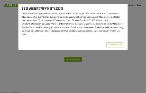 Vorschau von www.gah.de, Gust. Alberts GmbH & Co. KG