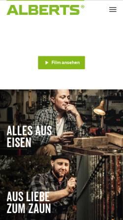 Vorschau der mobilen Webseite www.gah.de, Gust. Alberts GmbH & Co. KG