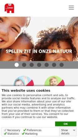 Vorschau der mobilen Webseite www.jumbo-spiele.de, JUMBO Spiele GmbH