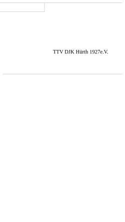 Vorschau der mobilen Webseite www.ttv-djk-huerth.de, Tischtennisvereins DJK Hürth 1927 e.V.